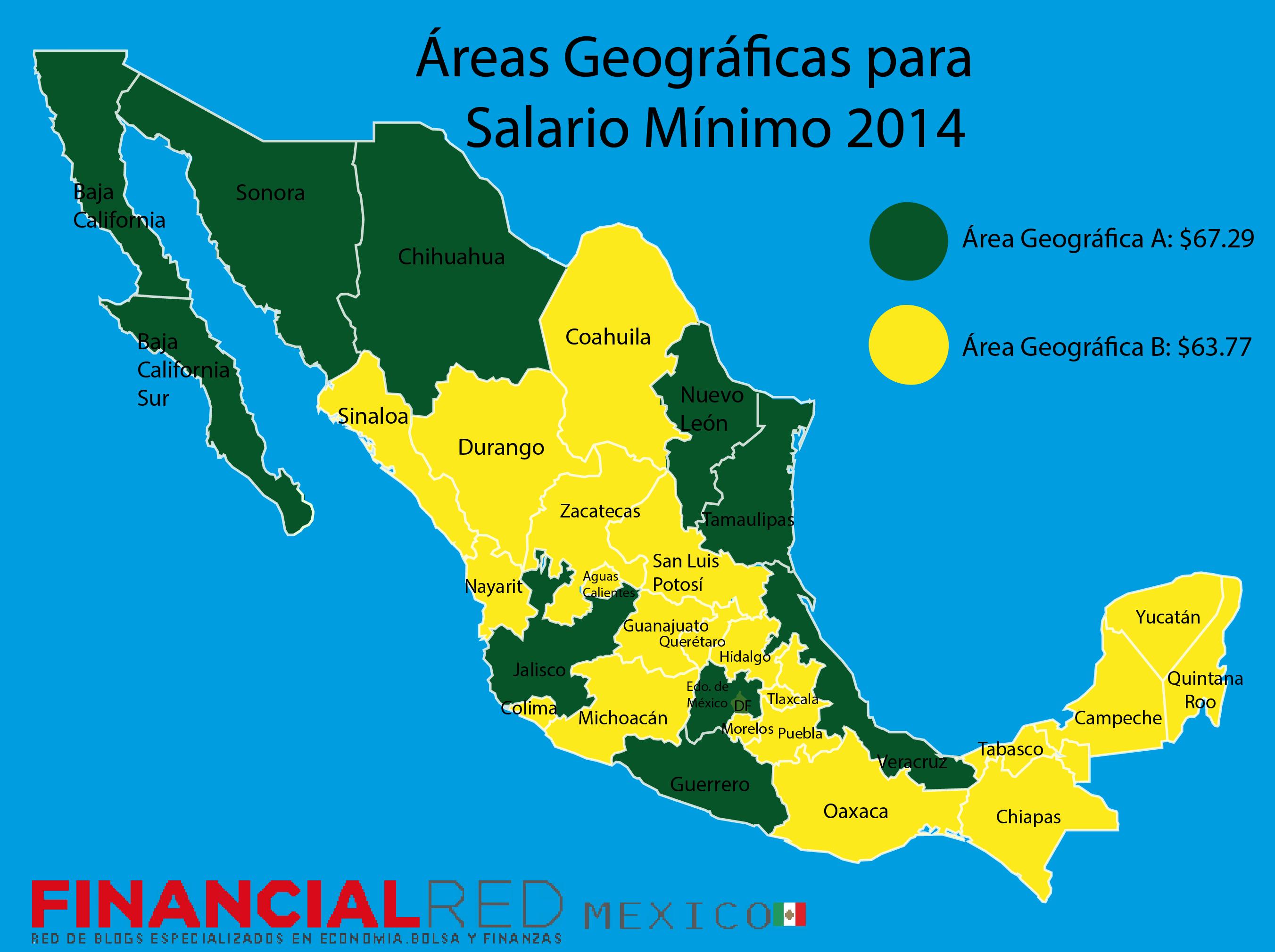 Salario Mínimo 2014 Áreas Geográficas